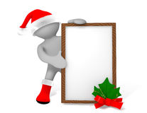 Panneau de Noël Photographie stock