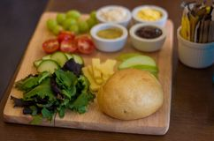 Panneau de nourriture Photo stock