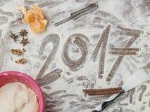 Panneau de pâtisserie de grands-mères avec le sous-titre 2017 Photographie stock