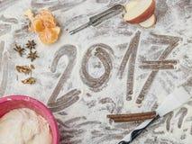 Panneau de pâtisserie de grands-mères avec le sous-titre 2017 Photo stock
