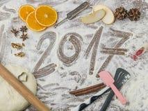 Panneau de pâtisserie de grands-mères avec le sous-titre 2017 Photos libres de droits