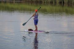 Panneau de palette sur la rivière Photo libre de droits