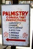 Panneau de Palmistry Images stock