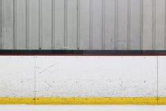 Panneau de piste de hockey sur glace photos stock