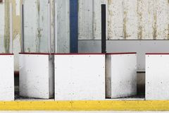 Panneau de piste de hockey sur glace images stock