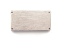 Panneau de plaque métallique de signe Photo stock