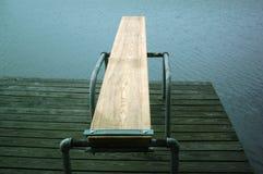 Panneau de plongée au lac Image libre de droits