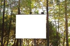 Panneau de projection dans les bois Images stock
