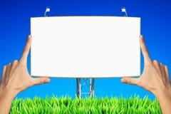 Panneau de publicité blanc Image stock