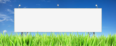 Panneau de publicité blanc Image libre de droits