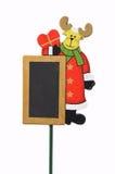 Panneau de renne de Noël Image stock