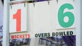 Panneau de score de cricket banque de vidéos