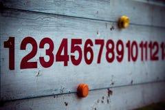 Panneau de score de vintage de petanque Photo stock