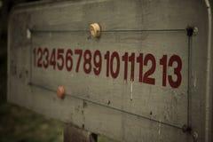 Panneau de score de vintage de petanque Images libres de droits
