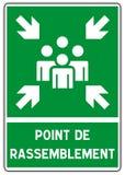 Panneau De Signalisation: poitn De Rassemblement Fotografia Royalty Free
