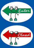 Panneau de signe Illustration Stock