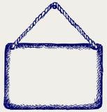 Panneau de signe avec la corde Photo libre de droits