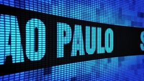 Panneau de signe de panneau d'affichage de mur de PAULO Side Text Scrolling LED de SAO clips vidéos