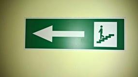 Panneau de signe d'escalier Images libres de droits