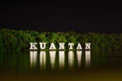 Panneau de signe de Kuantan Image libre de droits