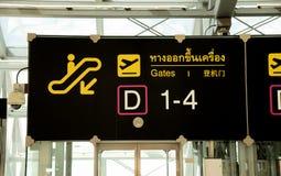 Panneau de signe pour la porte de départ Images stock