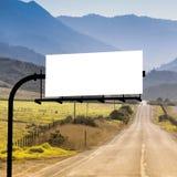 Panneau de signe pour la publicité photographie stock libre de droits