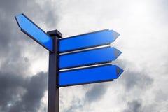 Panneau de signe pour le message textuel ou promotionnel vide Photos stock