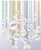 Panneau de soldes de promo Images stock