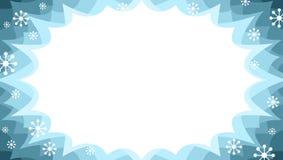 Panneau de starburst de vente d'hiver dans la neige colourway avec des flocons de neige illustration de vecteur
