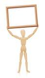 Panneau de support en bois de mannequin Images stock