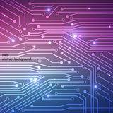 Panneau de système informatique de pointe de fond Image libre de droits