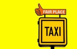 Panneau de taxi Photos stock