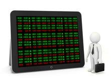 Panneau de ticker de marché boursier Image stock
