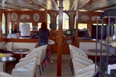 Panneau de touristes de bateau Photographie stock
