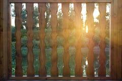 Panneau de trellis de coucher du soleil Image stock