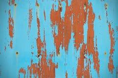 Panneau de turquoise avec la peinture d'épluchage Image stock