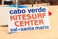 Panneau de vague déferlante au Cap Vert Image stock