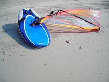 Panneau de vague déferlante de vent Photographie stock