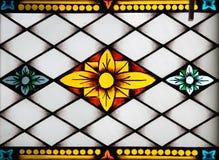 Panneau de verre coloré dans le mus Photographie stock libre de droits