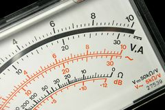 Panneau de voltmètre Image stock