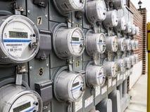 Panneau des mètres électriques Photo stock