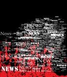 Panneau des nouvelles. Images libres de droits