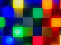 Panneau des places lumineuses dans différentes couleurs photo stock