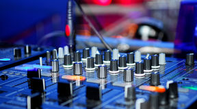 Panneau du DJ Photos libres de droits