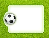 Panneau du football Images libres de droits