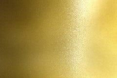 Panneau en acier d'or rugueux brillant, fond abstrait de texture photos libres de droits