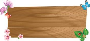 Panneau en bois Images stock