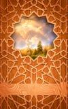 Panneau en bois, avec le décor de coupure. Photos stock