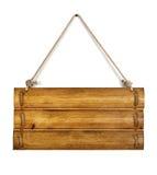 Panneau en bois blanc de signe Photo libre de droits