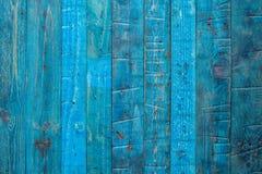 Panneau en bois bleu Images stock